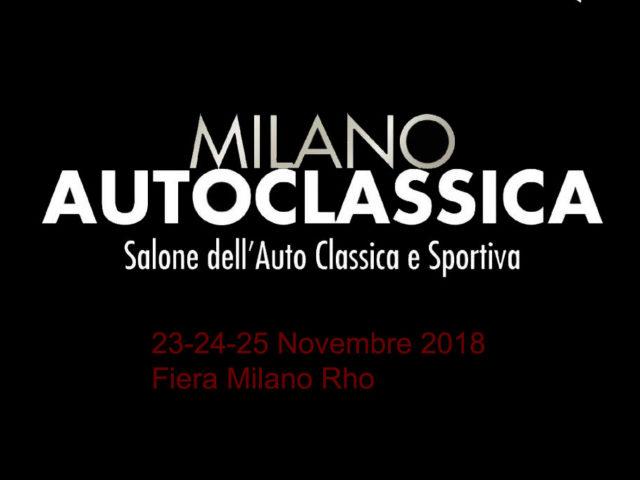 Milano AutoClassica 23/25 novembre 2018
